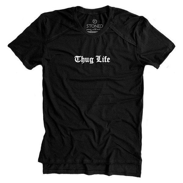 Camiseta Longline Gold Thug Life