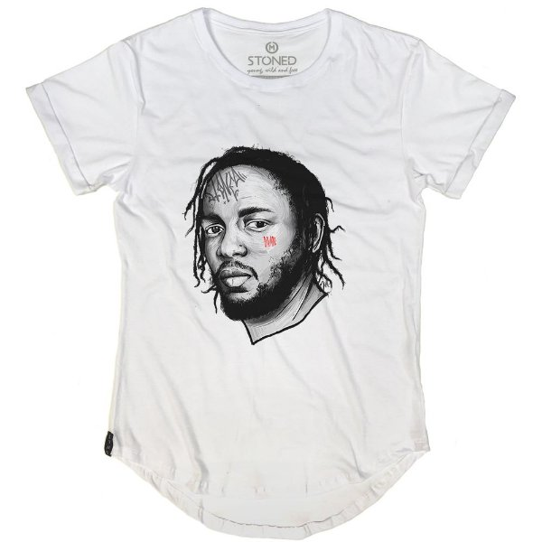 Camiseta Longline Kendrick Lamar
