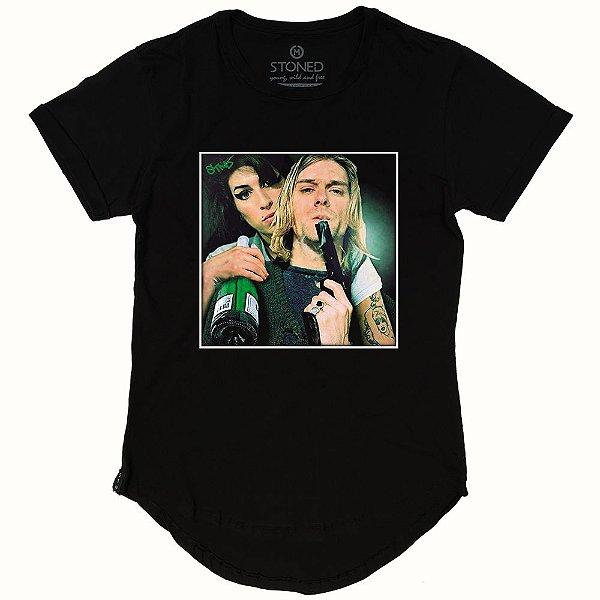 Camiseta Longline Kurt & Amy