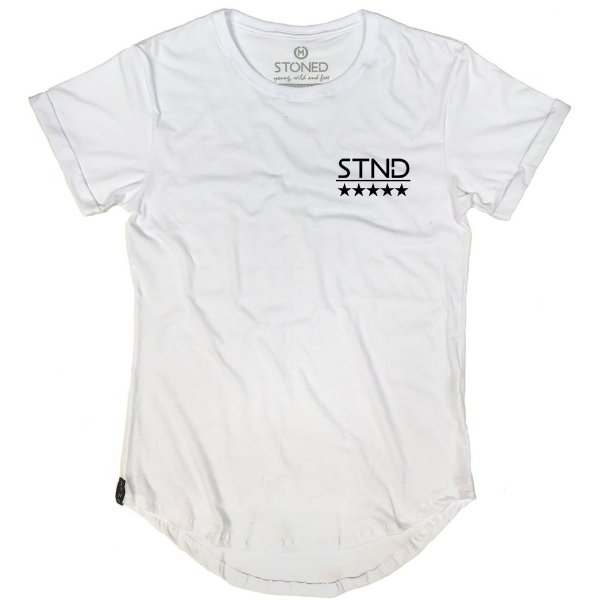 Camiseta Longline Logo Five Stars
