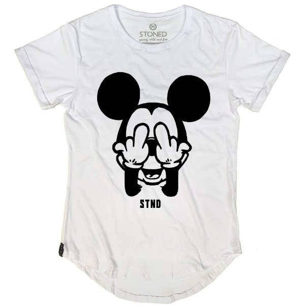 Camiseta Longline Middle Mickey