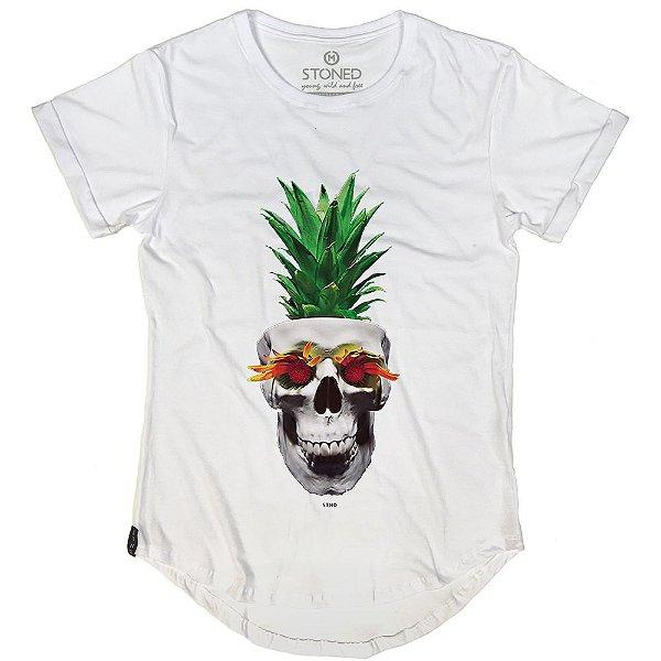 Camiseta Longline Pineapple Skull
