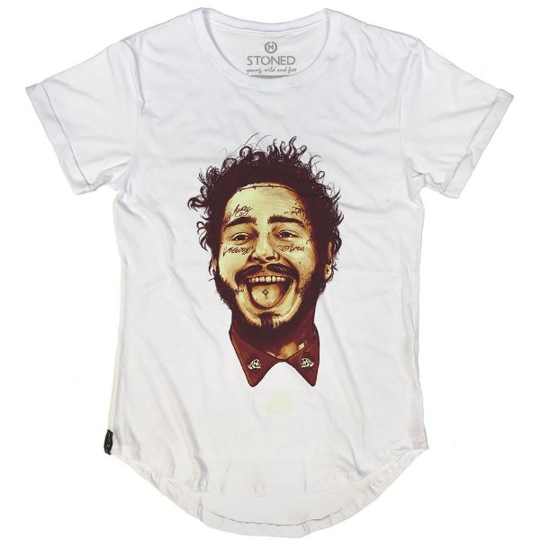 Camiseta Longline Post Malone