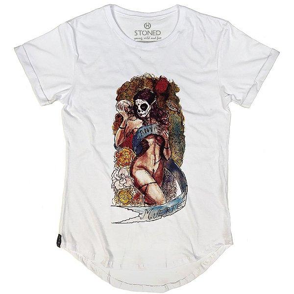 Camiseta Longline Santa Muerte