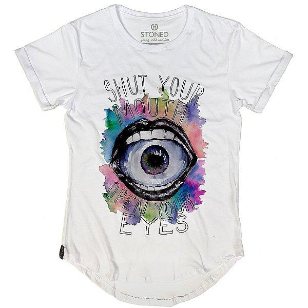 Camiseta Longline Shut Up Your Mouth