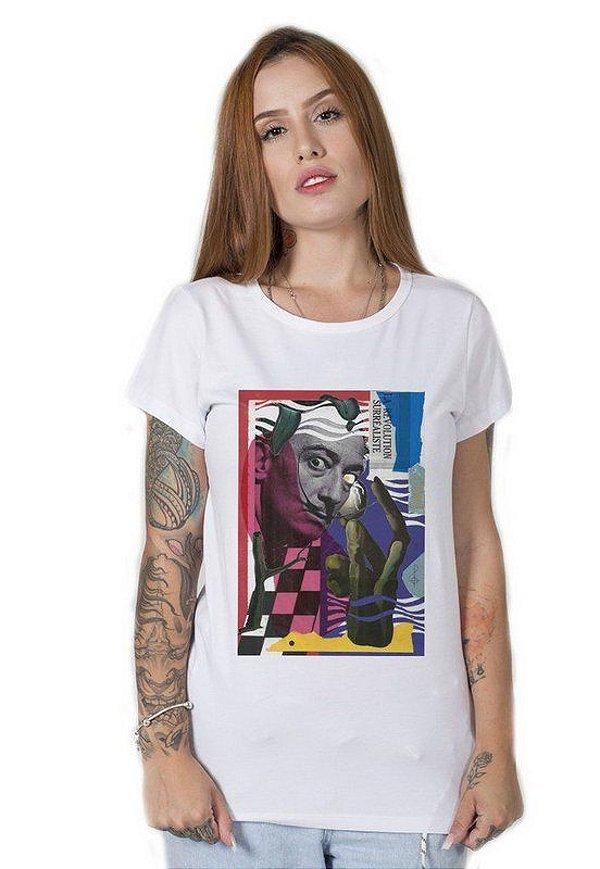Camiseta Feminina Dalí Surreal