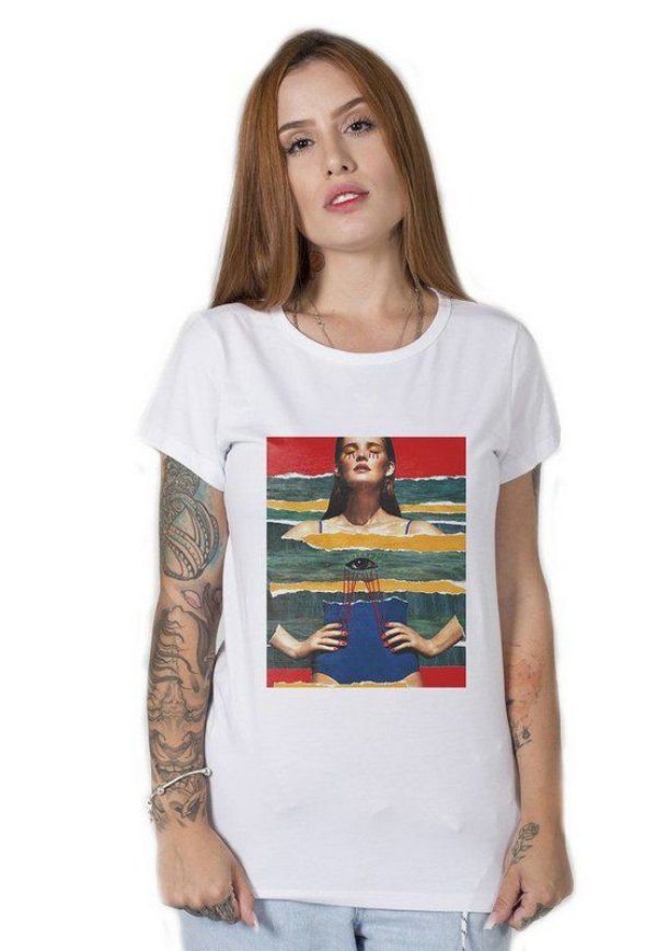 Camiseta Feminina De Peito Aberto
