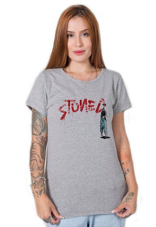 Camiseta Feminina Grafite