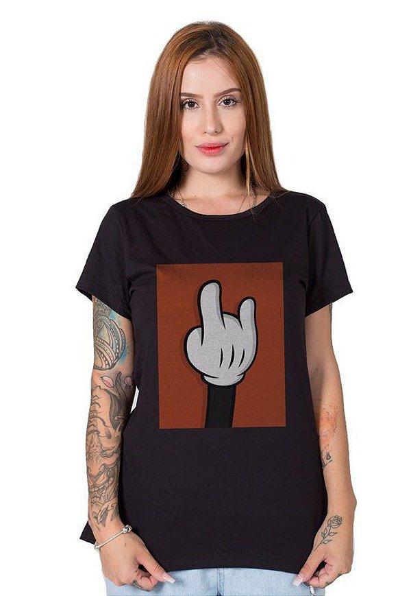 Camiseta Feminina Mickey Hand
