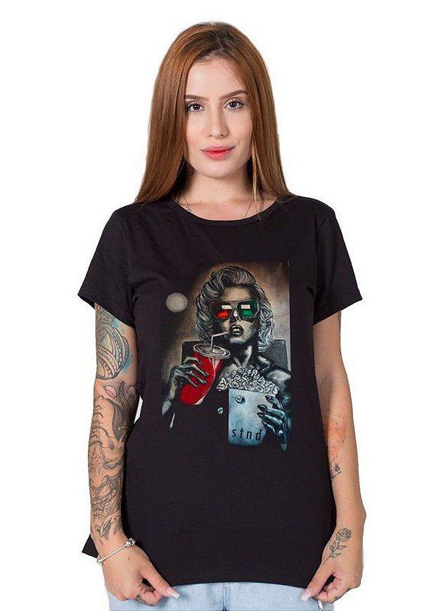 Camiseta Feminina Monroe 3D
