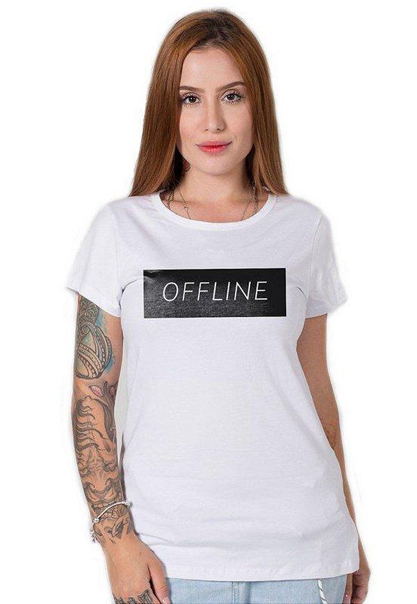 Camiseta Feminina Offline