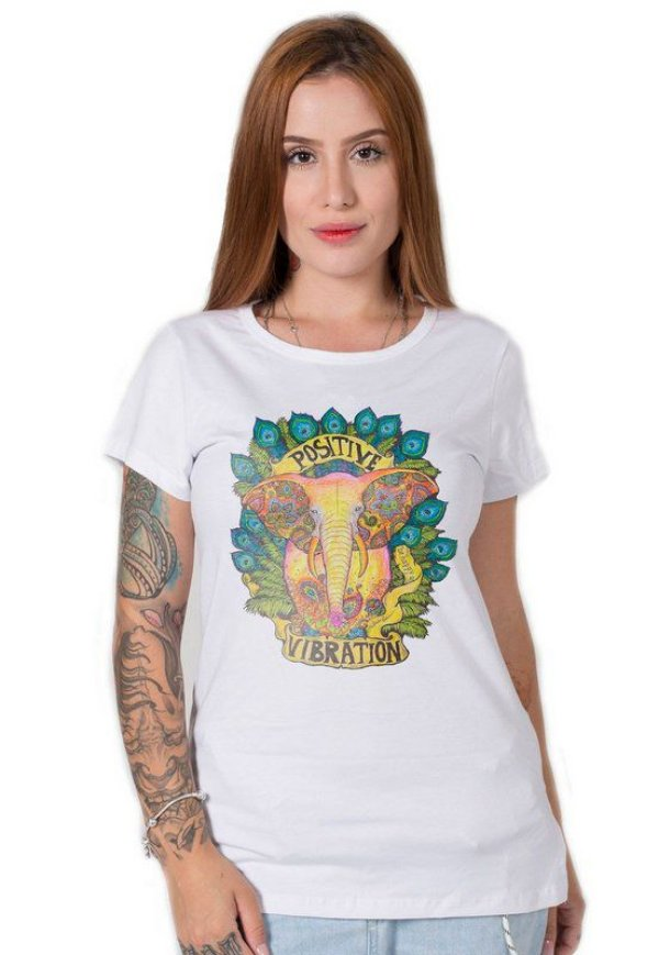 Camiseta Feminina Positive Vibration