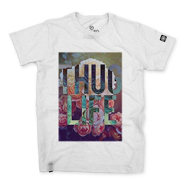 Camiseta Confort Thug Life Flowers