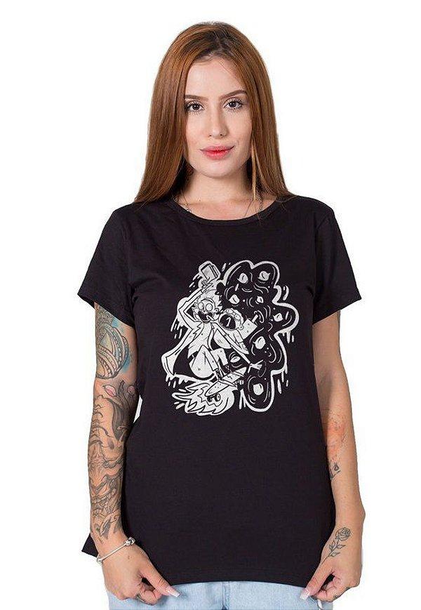 Camiseta Feminina Rick and Morty No Bad Vibes