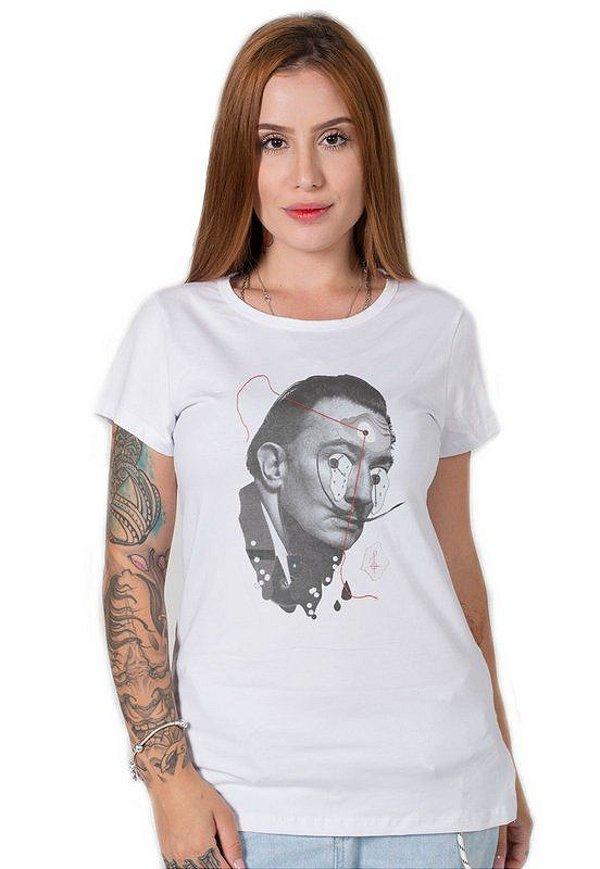 Camiseta Feminina Salvador Dali Collage