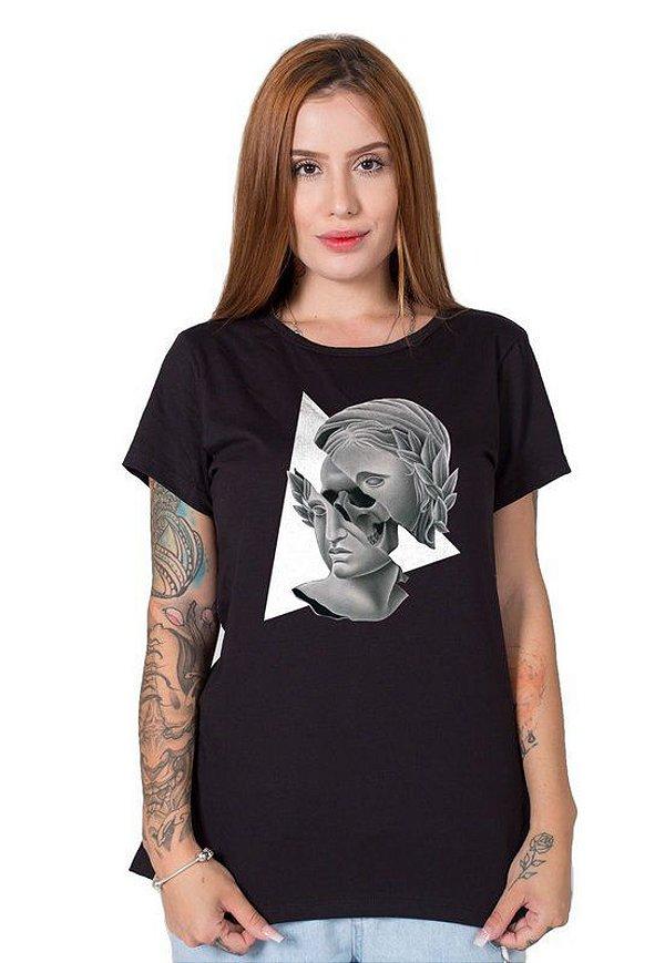 Camiseta Feminina Skull Real