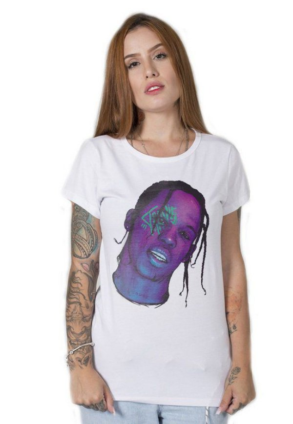 Camiseta Feminina Travis Scott