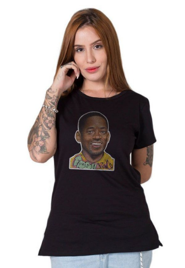 Camiseta Feminina Will Smith Old