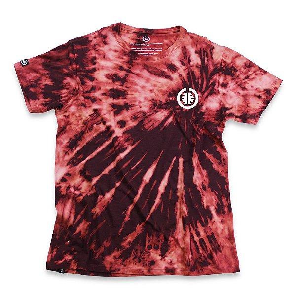 Camiseta Tie Dye Basic Bordô