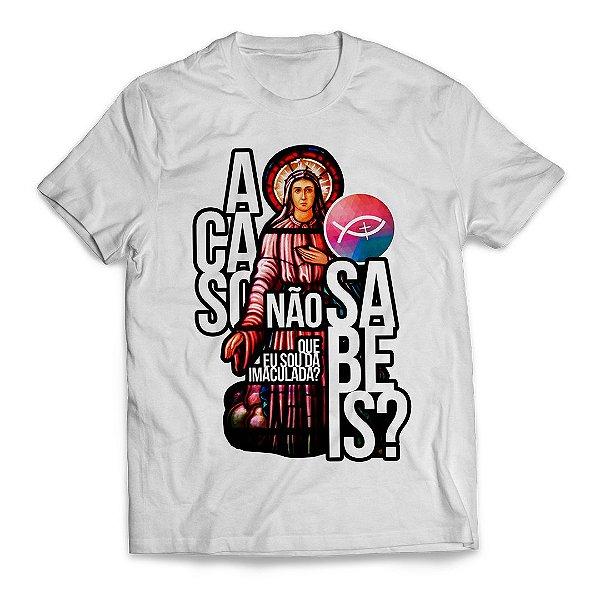 Camiseta Acaso não sabeis vitral