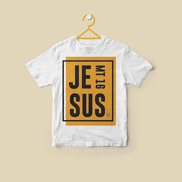 Camiseta infantil Jesus Amarela