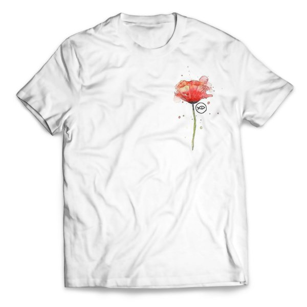 Camiseta Rosas entregue a Virgem Maria