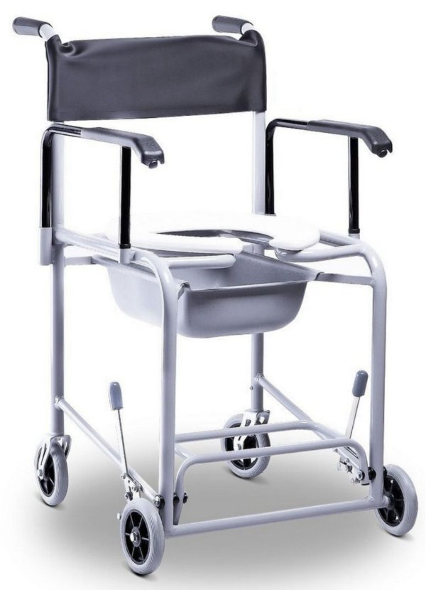 Cadeira de Banho Fixa em Alumínio com Coletor