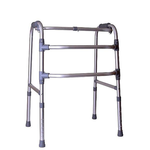 Andador Ortopédico Articulado De Alumínio 3 Barras Ate 130 kg