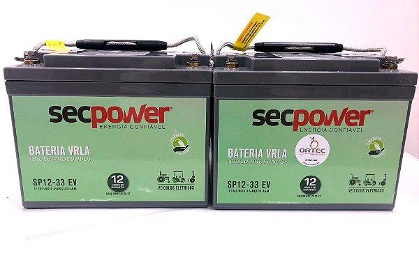 Bateria Selada 33ah Recarregável para Cadeira de Rodas Motorizada (Par)