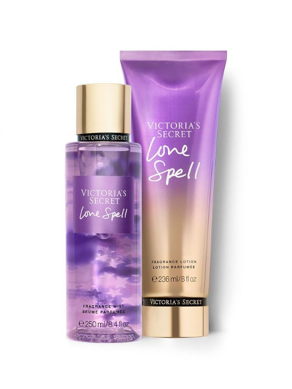 Kit Victoria's Secret Love Spell (Hidratante 236ml + Bodysplesh 250ml)