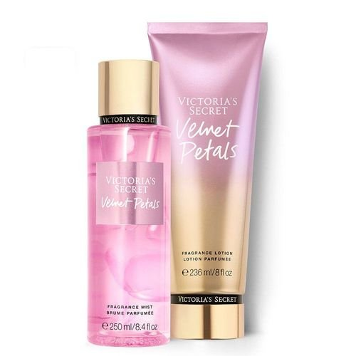 Kit Victoria's Secret Velvet Petals (Hidratante 236ml + Body splesh 250ml)