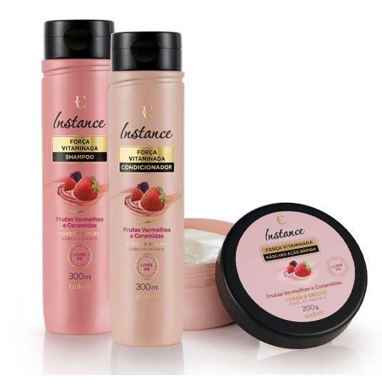 Kit Instance Frutas Vermelhas Shampoo 300ml + Condicionador 300ml + Máscara 200g