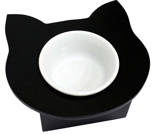 Comedouro Cara de Gato Preto
