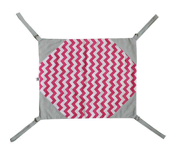 Rede de Cadeira para Gatos Cinza/Rosa