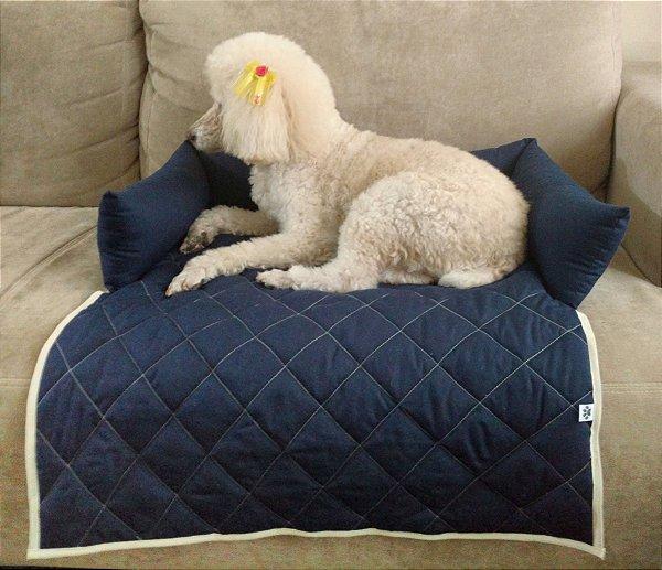 Protetor de Sofá Pet - Para cães e Gatos - Marinho/Bege