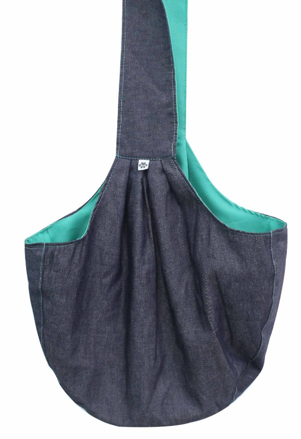 Bolsa Sling Jeans/Menta