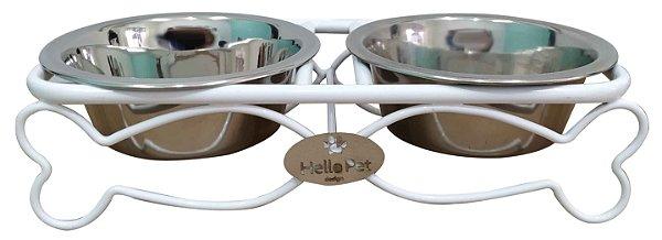 Comedouro Aluminio Peixe Branc-