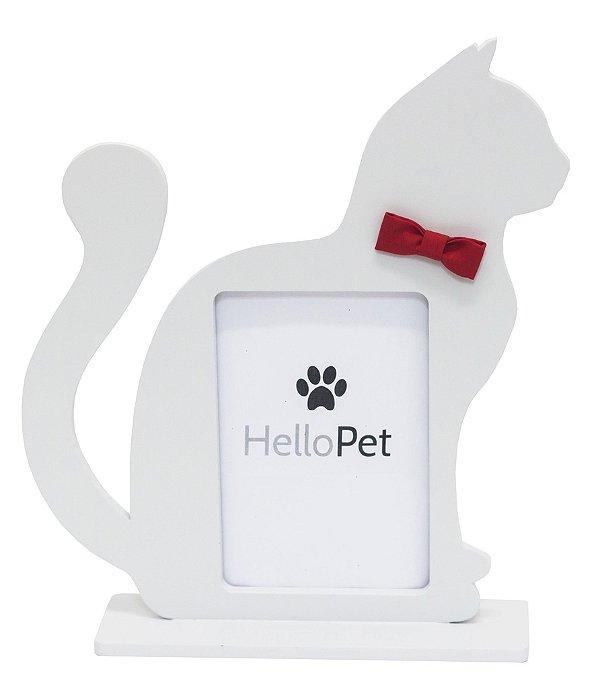 Porta Retrato Gato Gravata Vermelha