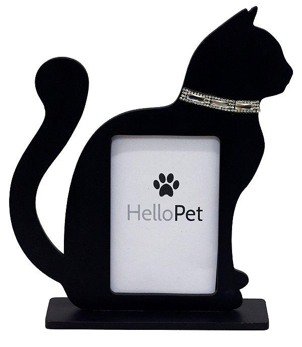 Porta Retrato Gato Preto