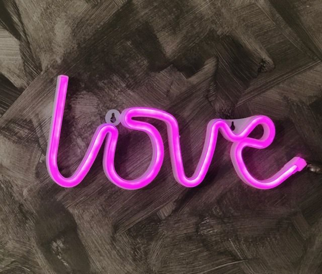 Love Neon Led Parede