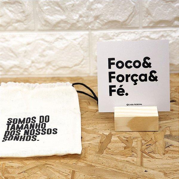 Placa de mesa    Foco & Força & Fé
