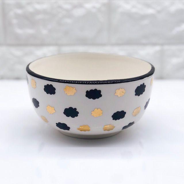 Bowl Black & Gold Nuvem