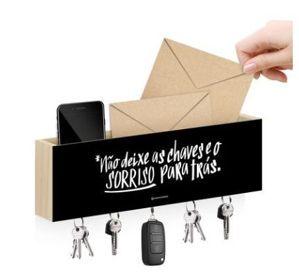 Porta Carta e Chaves Magnético Sorriso