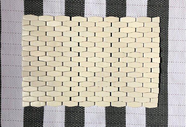 Jogo Americano Bambu Branco
