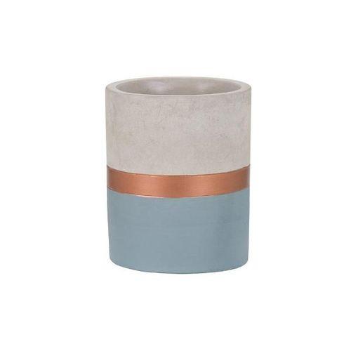 Vaso Cimento Cobre e Azul