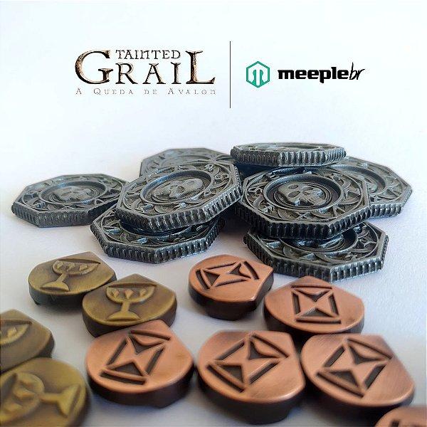 Tainted Grail - Kit de discos e marcadores de metal
