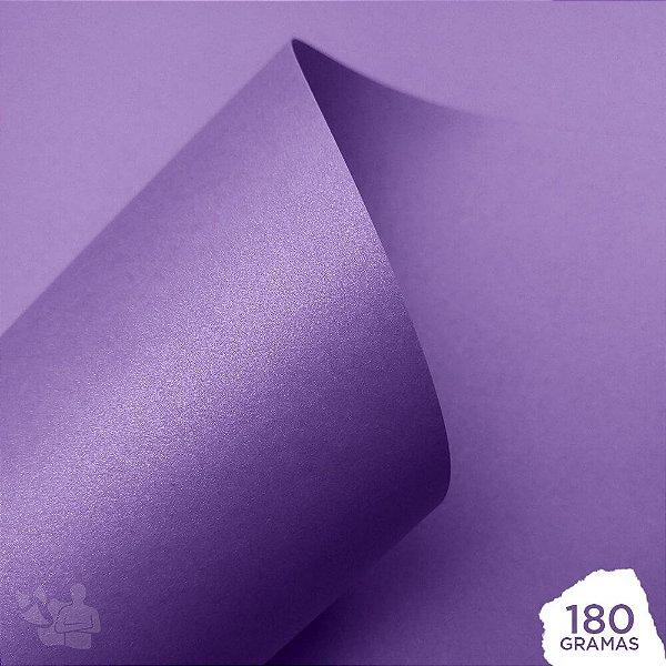 Papel Perolizado - Lavanda - 180g - A4 - 210x297mm