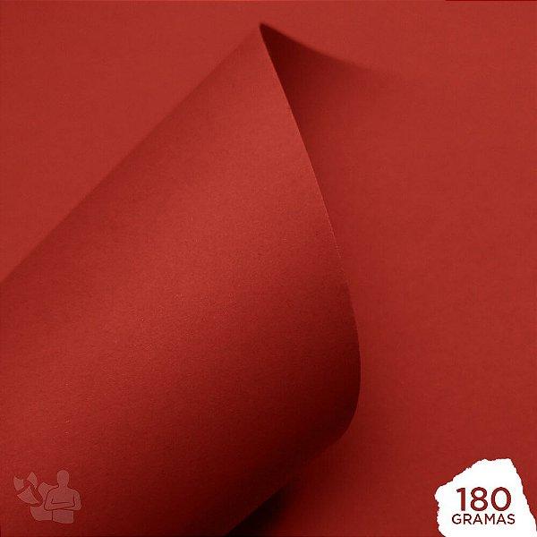 Papel Color Pop - Mimo - Vermelho Carmim - 180g - 30,5x30,5cm
