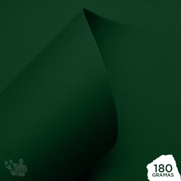 Papel Color Pop - Mimo - Verde Oliva - 180g - 30,5x30,5cm