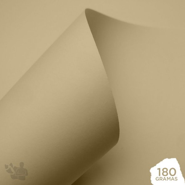 Papel Color Pop - Mimo - Creme Baunilha - 180g - 30,5x30,5cm